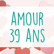 Carte anniversaire amour 39 ans
