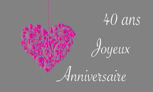 message anniversaire couple 40 ans