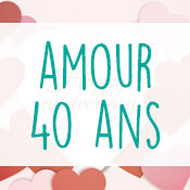 Carte anniversaire amour 40 ans