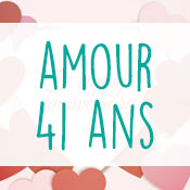 Carte anniversaire amour 41 ans