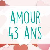 Carte anniversaire amour 43 ans
