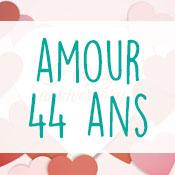 Carte anniversaire amour 44 ans