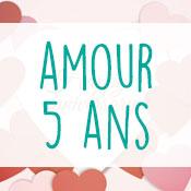Carte anniversaire amour 5 ans