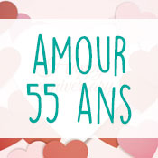 Carte anniversaire amour 55 ans