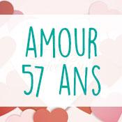 Carte anniversaire amour 57 ans