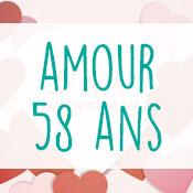 Carte anniversaire amour 58 ans