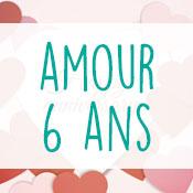 Carte anniversaire amour 6 ans