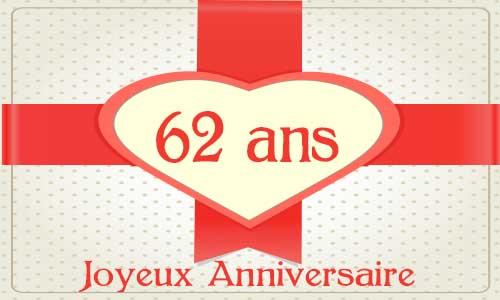 Carte Anniversaire Amour 62 Ans Cadeau