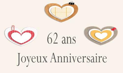 Carte Anniversaire Amour 62 Ans Virtuelle Gratuite à