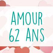 Carte anniversaire amour 62 ans