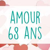 Carte anniversaire amour 68 ans