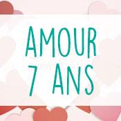 Carte anniversaire amour 7 ans