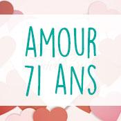 Carte anniversaire amour 71 ans