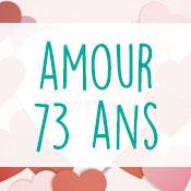 Carte anniversaire amour 73 ans