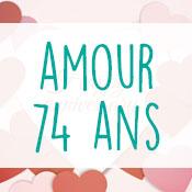 Carte anniversaire amour 74 ans