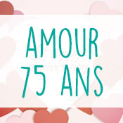 Carte anniversaire amour 75 ans