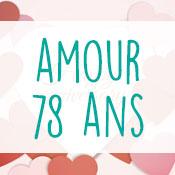 Carte anniversaire amour 78 ans