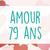 Carte anniversaire amour 79 ans