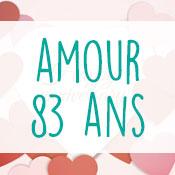 Carte anniversaire amour 83 ans