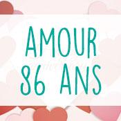 Carte anniversaire amour 86 ans