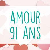 Carte anniversaire amour 91 ans