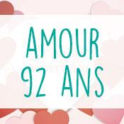 Carte anniversaire amour 92 ans