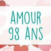 Carte anniversaire amour 98 ans