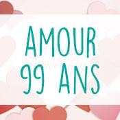 Carte anniversaire amour 99 ans