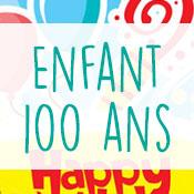 Carte anniversaire enfant 100 ans