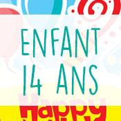 Carte anniversaire enfant 14 ans
