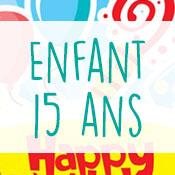 Carte anniversaire enfant 15 ans