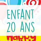 Carte anniversaire enfant 20 ans