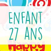 Carte anniversaire enfant 27 ans