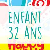 Carte anniversaire enfant 32 ans