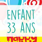 Carte anniversaire enfant 33 ans