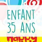 Carte anniversaire enfant 35 ans