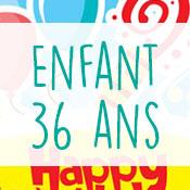Carte anniversaire enfant 36 ans