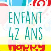 Carte anniversaire enfant 42 ans