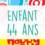 Carte anniversaire enfant 44 ans