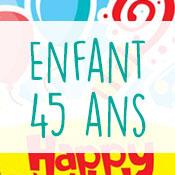 Carte anniversaire enfant 45 ans