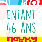 Carte anniversaire enfant 46 ans