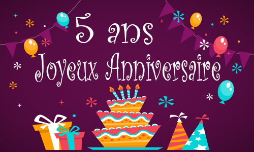 carte anniversaire enfant 5 ans gateau. Black Bedroom Furniture Sets. Home Design Ideas