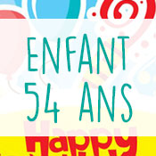 Carte anniversaire enfant 54 ans