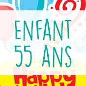 Carte anniversaire enfant 55 ans
