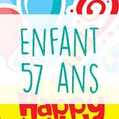 Carte anniversaire enfant 57 ans