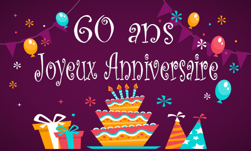 carte anniversaire enfant 60 ans gateau. Black Bedroom Furniture Sets. Home Design Ideas