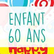 Carte anniversaire enfant 60 ans