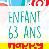 Carte anniversaire enfant 63 ans