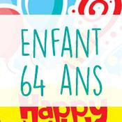 Carte anniversaire enfant 64 ans