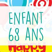 Carte anniversaire enfant 68 ans